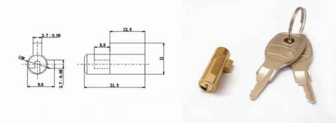 Brass Glass Cylinder Locks for Refrigerator