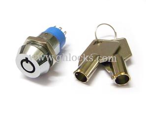 Large Tubular Key Switch Lock 8 Connecter Key Switch Lock with Tubular Keys from China