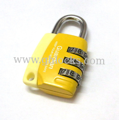 China 3 Digital Colorful Luggage Combination Padlock supplier