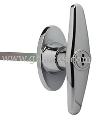 China T handle lock with long pole chassis cabinet door knob lock mechanical equipment lock supplier
