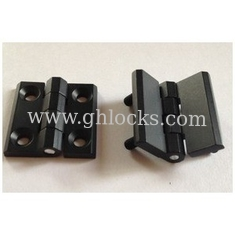 China Zinc Alloy Cabinet Hinges 40*40 50*50 60*60 black powder coated Door Hinge with 180 degree supplier