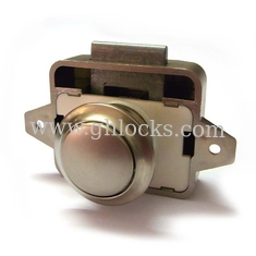 Caravan Lock without key for Cupboard push lock with latch push button cabinet latch de China