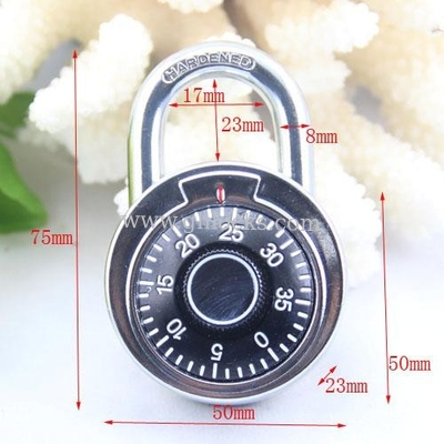 China 50MM Round Dial combination padlock/compass decorated padlock factory