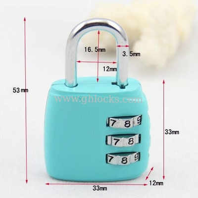 China 3 Resetable bag coded lock luggage lock factory