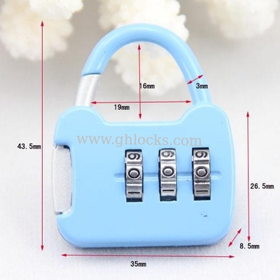 China Small PadLock/Combination Luggage Locks/Mini PadLock factory