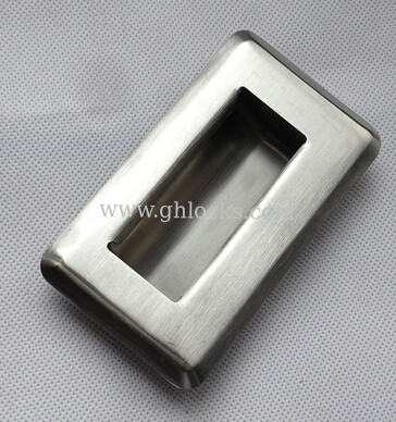 Stainless steel embedded flush pull hand chest drawer machinery equipment Handle
