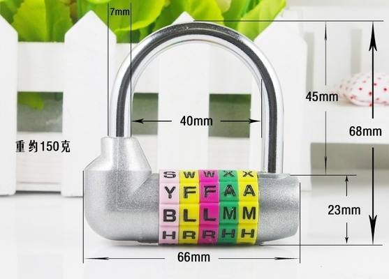 China 5 Digital English letter Password locks DIY English alphabet Combination lock Gym Gate 5 D factory