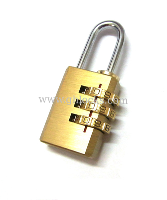 3 Digit brass Padlock Combination Pad Lock