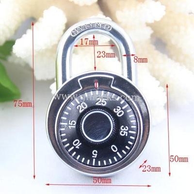 50MM Round Dial combination padlock/compass decorated padlock