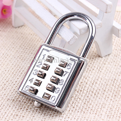 10 key pad PadLock/10 Push Button Combination Password Lock